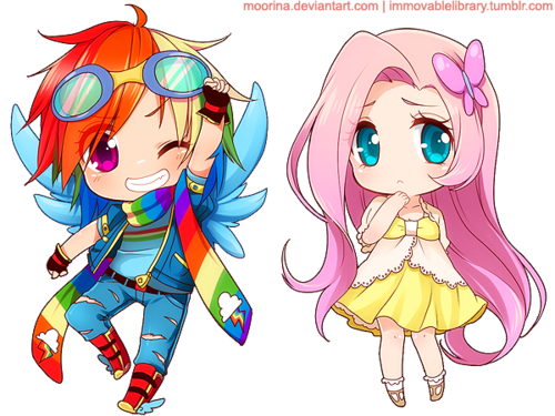 قوس قزح dash and fluttershy