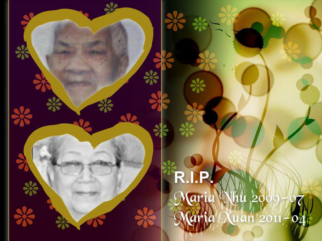 rip maria nhu 2009 07 & maria xuan 2011 04