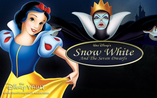 Snow White and the Seven Dwarfs wallpaper probably containing anime titled the queen