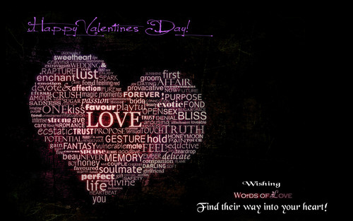 Valentine's Day wallpaper containing a sign entitled words