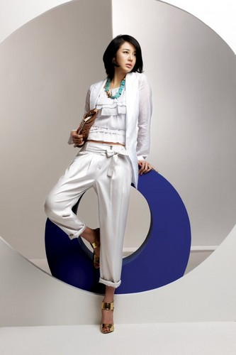 DARA 2NE1 wallpaper possibly with a well dressed person, an outerwear, and long trousers titled yoon eun hye summer collection of Joinus 2008