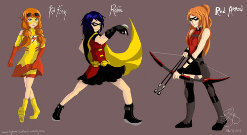 Young Justice wallpaper entitled young justice genderbend