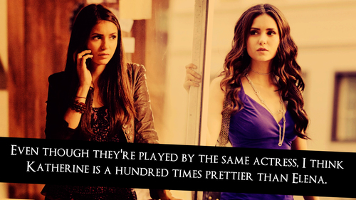 Katherine Pierce and Elena Gilbert wallpaper containing a portrait called <33