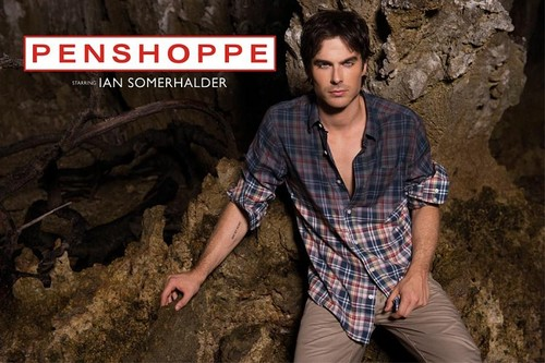 Ingrid's Graceland wallpaper probably with a workwear, a wickiup, and a street titled ♥ Ian Somerhalder - Penshoppe Photoshoot ♥
