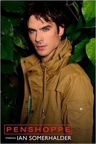 Ingrid's Graceland wallpaper possibly containing a green beret and a fedora titled ♥ Ian Somerhalder - Penshoppe Photoshoot ♥
