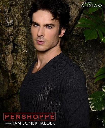 Ingrid's Graceland kertas dinding possibly with a mahogany and a portrait titled ♥ Ian Somerhalder - Penshoppe Photoshoot ♥