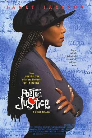 "The 90s wallpaper probably containing a fedora and a portrait entitled 1993 ""Poetic Justice"" Movie Poster"