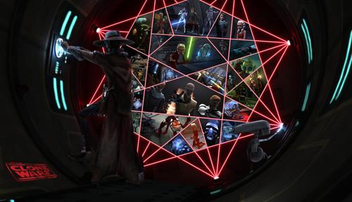 étoile, étoile, star Wars: Clone Wars fond d'écran entitled A Jedi Holocron...