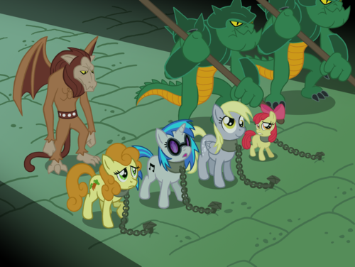 My Little pony - Freundschaft ist Magie Hintergrund with Anime titled A scene fron Rescue at midnight castle- FIM style!