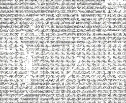 ASCII Archery from http://www.buchstabenbildchen.de/ascii-art-galerie/