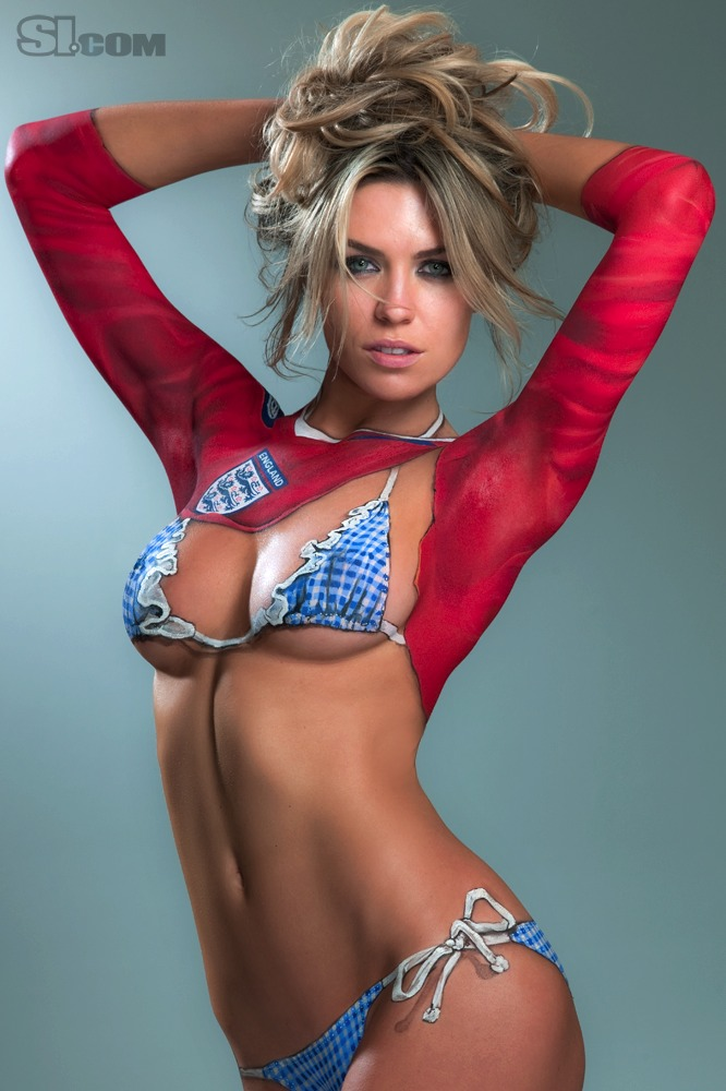 Abbey clancy body paint