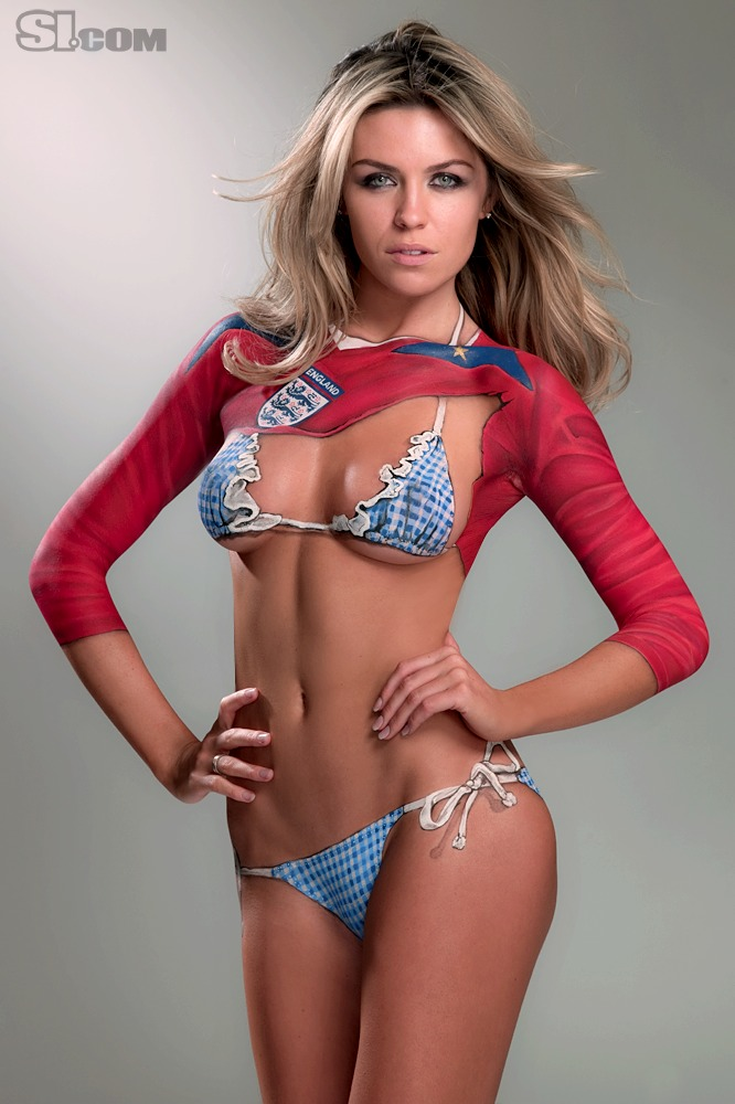 Abbey Clancy in Bodypaint: 2010 Issue