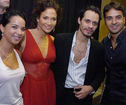 Adamari Lopez, Luis Fonsi, Marc Anthony, Jennifer Lopez