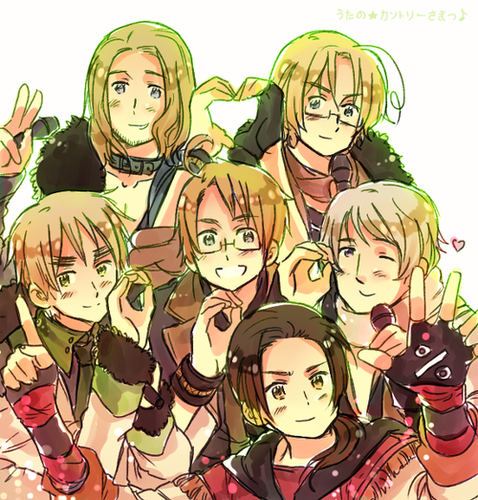 Hetalia wallpaper containing anime titled Allies Power