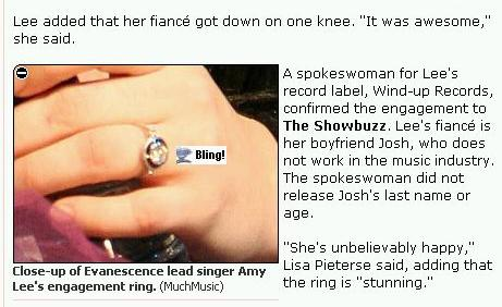 Amy's Wedding Ring!