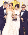 Anne Hathaway winning the Oscar 2013 for best supporting role - anne-hathaway photo