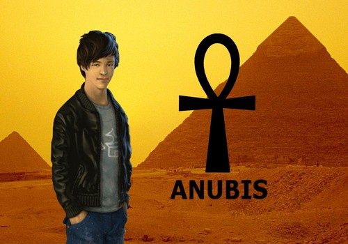 The Kane Chronicles 壁纸 probably with a 街, 街道 and a sign titled Anubis 壁纸