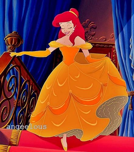 Ariel as Belle