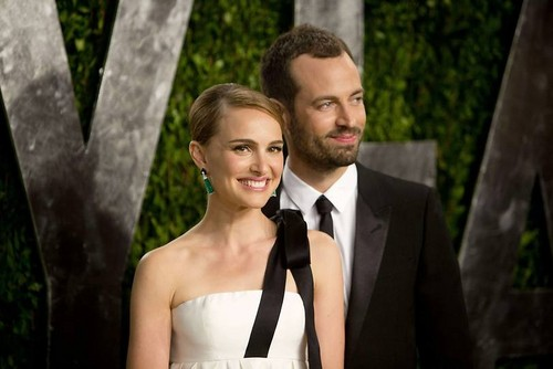 Attending the Vanity Fair Oscar after party with Benjamin at Sunset Tower, West Hollywood (02/24/13)