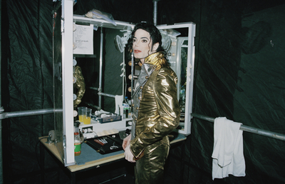 Backstsage During The History Tour