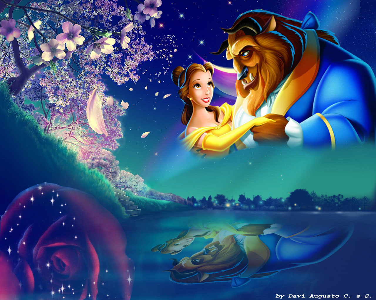 Beauty amp; The Beast  Disney Princess Wallpaper 33799178  Fanpop