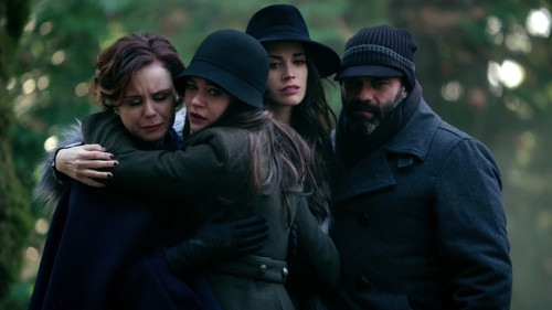 """Belle at Archie's """"funeral"""""""