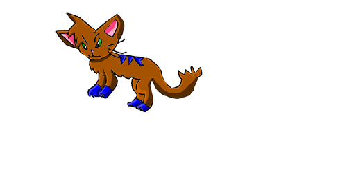 Blueclaw the badass Thunderclan He-cat