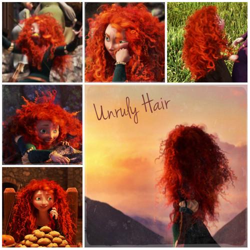 ब्रेव Alphabet: U from Unruly Hair