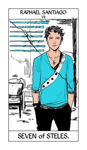 Cassandra Jean's Tarot Cards: Raphael Santiago {Seven of Steles}.