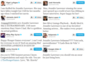 beroemdheden tweet their love for Jennifer Lawrence.