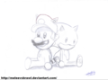 Chivi Toys Mario &amp; Sonic :3 - sonic-the-hedgehog fan art