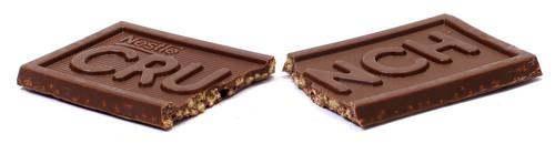 Cioccolato diviso, spalato In Half