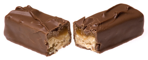 Chocolate spleet, split In Half