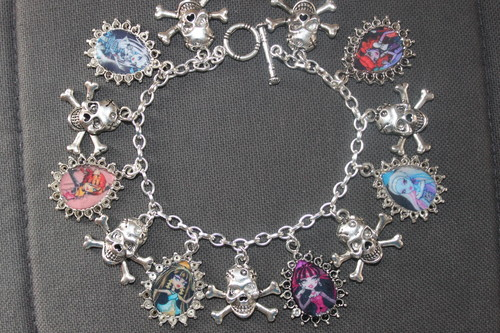 Choose Your Own MONSTER HIGH bambole custom charm bracelet