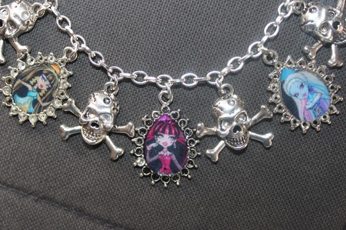 Choose Your Own MONSTER HIGH anak patung custom charm bracelet