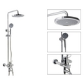 Chrome Wall Mount Shower Suit with Handshower and Shower Head