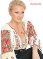 Cristina Dochianu in traditional romanian clothing romania women - romania photo