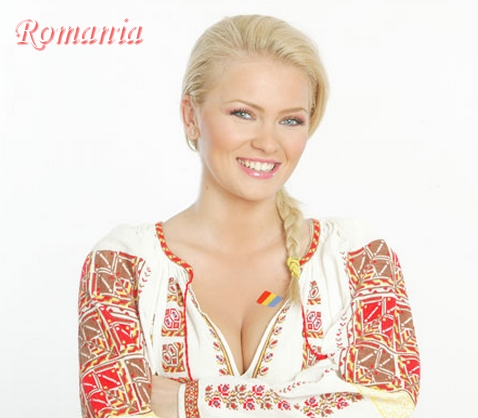 Cristina Dochianu in traditional romanian clothing dress romania girls
