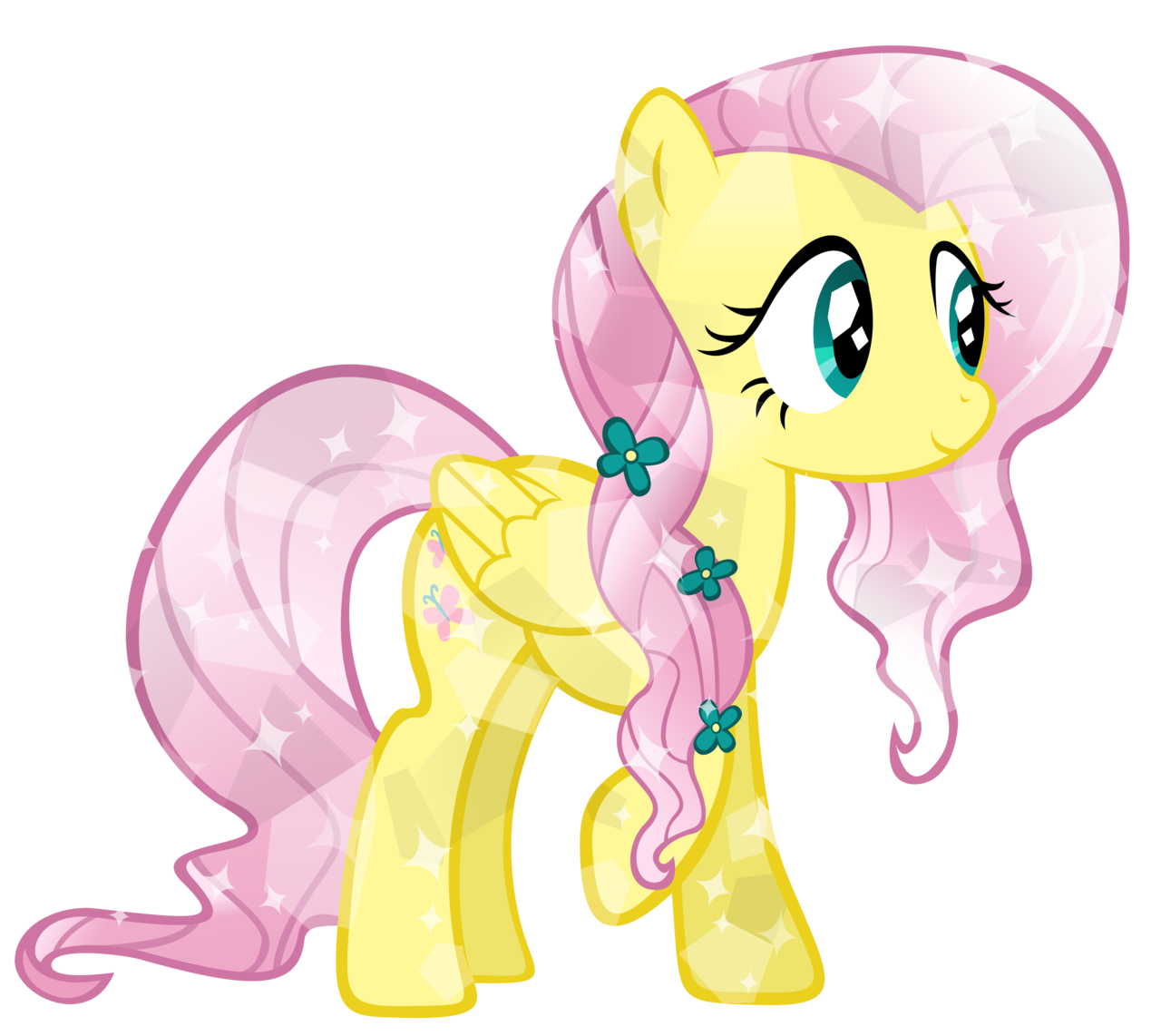 Fluttershy Images Cyrstal Fluttershy Hd Wallpaper And