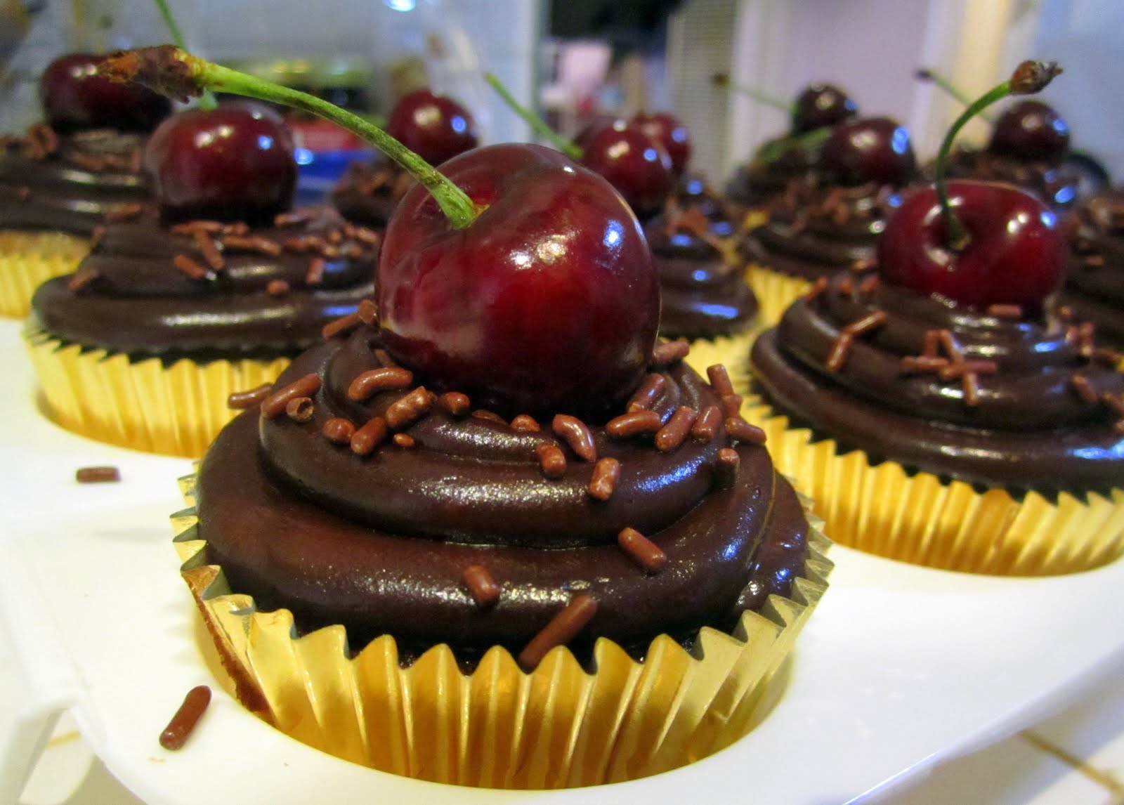 Chocolate Cherry Cupcakes, Two Ways Recipes — Dishmaps