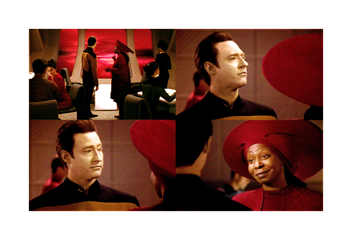 Data and Guinan