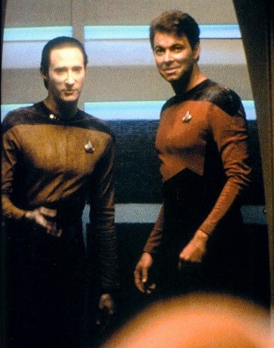 Data and Riker