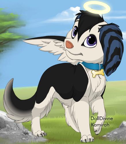 Emma as a dog. :P