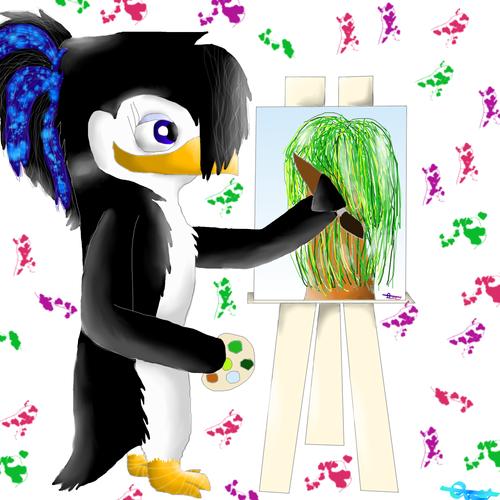 Emma painting. :3