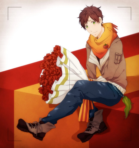 Hetalia Spain fond d'écran with a bouquet called Espana~