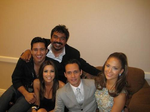Eva Longoria, Mario Lopez, George Lopez, Marc Anthony, Jennifer Lopez 2005