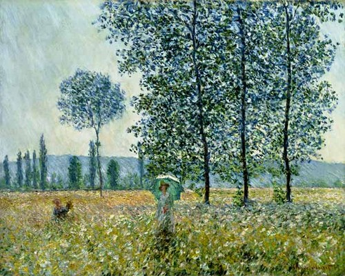 Fields in spring par Claude Monet