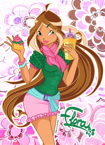 The Winx Gang wallpaper possibly containing animê called Flora
