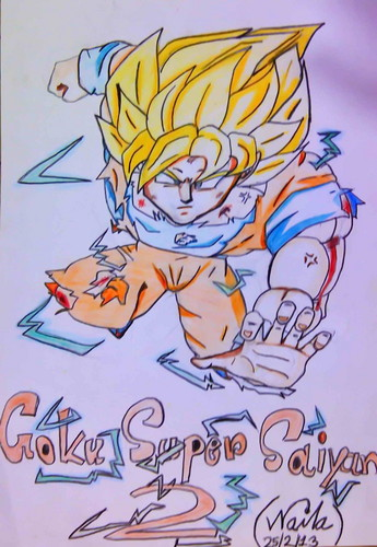 Dragon Ball Z Kai wallpaper probably with animê titled goku super saiyan 2