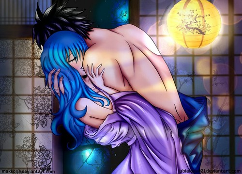 Fairy Tail wallpaper probably with anime called Gruvia HOT